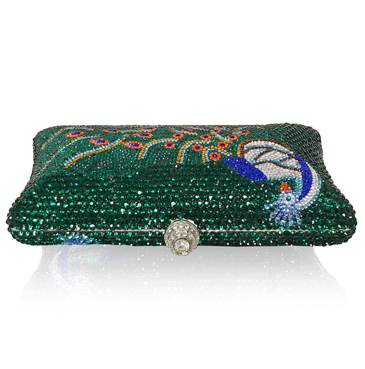 Luxury Peacock Large Clutch