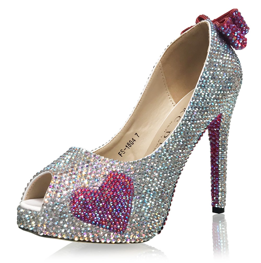 e43a246c02b Luxury Bridal Pumps with Crystalized Soles