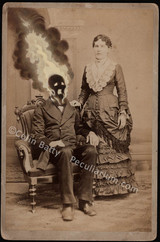 Original vintage cabinet cards modified by Colin Batty.