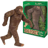 """Action figure of Bigfoot made from hard vinyl. 7-1/4"""" tall and comes in a box with a serene forest backdrop."""