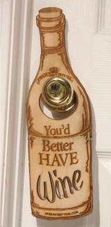 Door Hanger Wine
