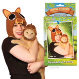 Fabric hats made of felt for you and your cat. Human is the squirrel, your cat is the acorn.