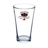 Pint glass beer glass logo peculiarium cup