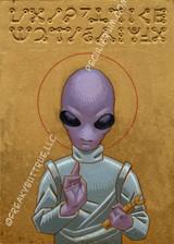 Colin Batty Hand Painted Alien Saint