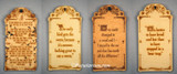 Quotes, words of wisdom and inspirational wall hanging plaques