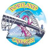 Peculiarium Fremont Bridge Portland New Vinyl Sticker