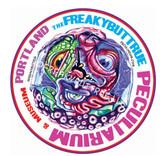 Peculiarium Alien round blob New Vinyl Sticker