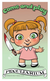 Girl with Knife Sticker