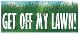 Get Off my Lawn Sticker