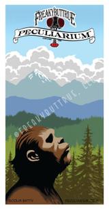 Bigfoot Gazing at Mountains Sticker