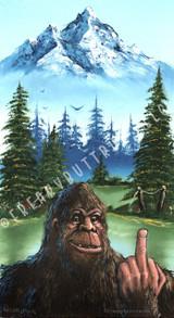 Bigfoot with Finger Jumbo Postcard