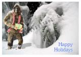 Bigfoot Holiday Postcard