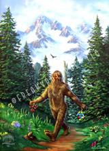 Bigfoot Strolling Jumbo Postcard