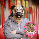 Realistic latex pug mask Fits most adult heads Will make people give you biscuits for tricks