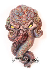 This is a brand new sculpt of H.P. Lovecraft's iconic character, Cthulhu. It's stone cast from an original sculpt by master sculptor Colin Batty and each is individually hand painted. Thus, each one is a little different. It's about 4.5 inches from the top to bottom. Perfect for any nursery or babies room! Get yours today! Also available in Bronze, too! Send a note when you order if you'd like the faux bronze look.