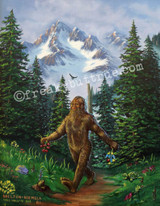 """This is a print from an original NERC painting by Mike Wellins, and Unknown. Wellins is co-creator of the Peculiarium. Mike starts with """"thrift shop"""" painting and modifies it."""