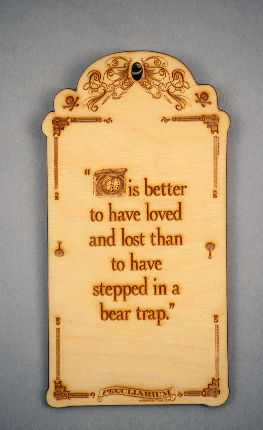 Inspirational quotes laser etched, birchwood, wall hanging plaque Bear Trap