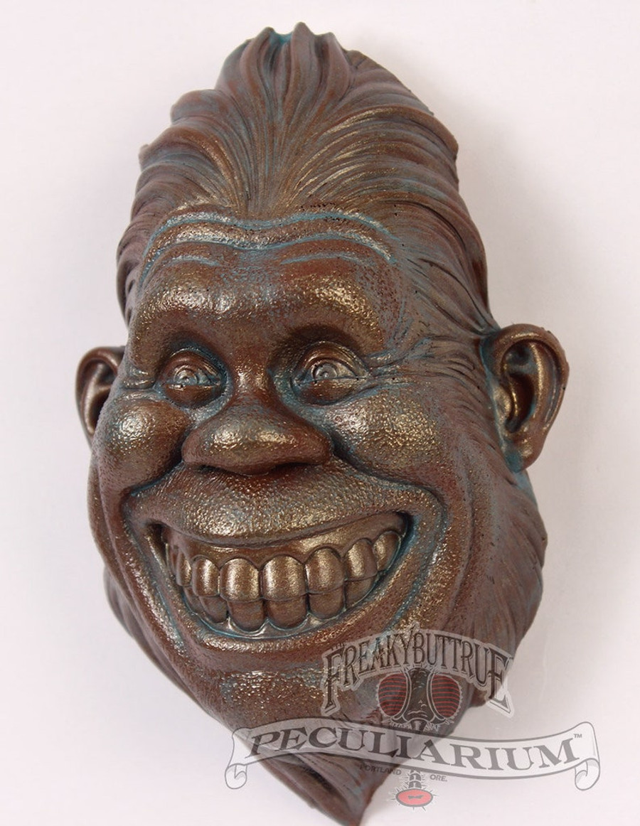 Grinning Bigfoot Wall Bust by Colin Batty