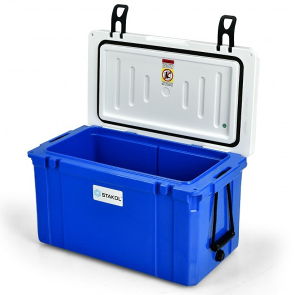 58 Quart Leak-Proof Portable Cooler  Ice Box for Camping-Blue
