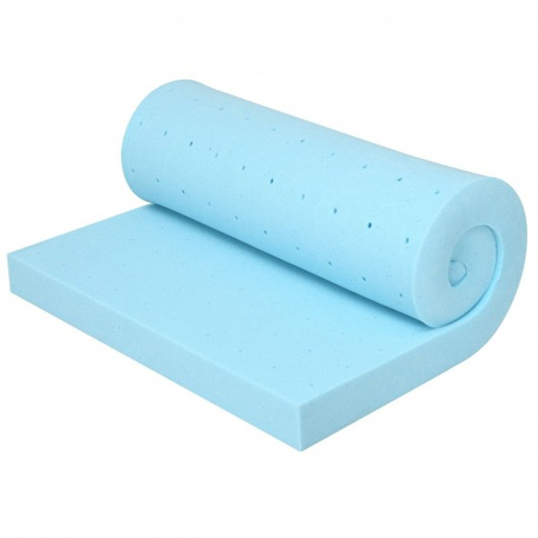 """3"""" Gel-Infused Cooling Bed Topper for All-Night Comfy-80 x 60 inch"""