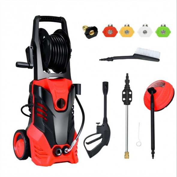 3000 PSI Electric High Pressure Washer With Patio Cleaner -Red