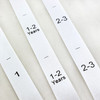 White Satin Custom Size Pip Tags