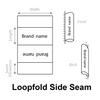 Loopfold side seam