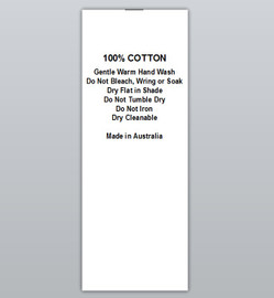 100% Cotton Warm hand wash Do not iron Clothing Labels by Ted + Toot labels