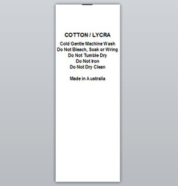 Cotton / Lycra Clothing Labels by Ted + Toot labels