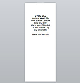 Lyocell Clothing Labels by Ted + Toot labels