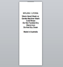 Nylon / Lycra Clothing Labels by Ted + Toot labels