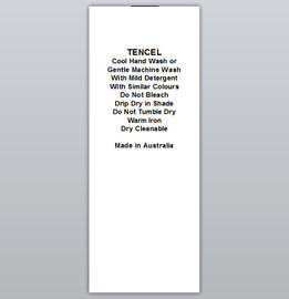 Tencel Clothing Labels by Ted + Toot labels