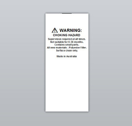 Warning Toy Clothing Labels by Ted + Toot labels