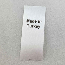 Made in Turkey Country of Origin Label