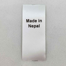 Made in Nepal Country of Origin Label