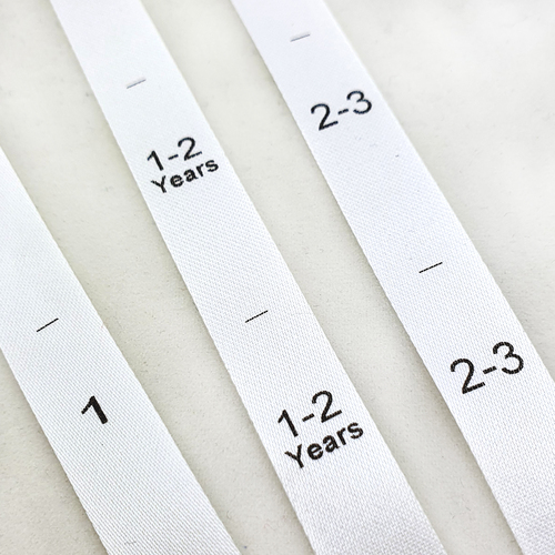White Satin Custom Size Pip Tags