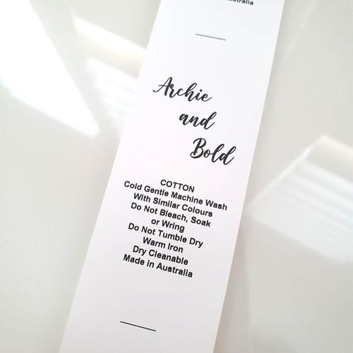Logo care labels