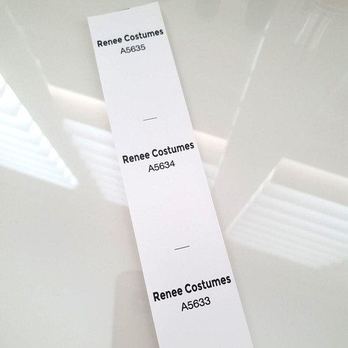 Recycled paper sequential numbered labels