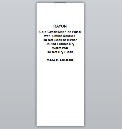 Rayon Clothing Labels by Ted + Toot labels
