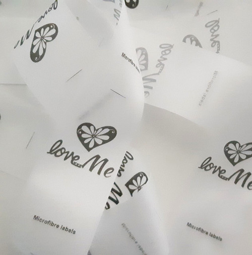 Microfibre custom printed labels