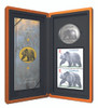 2004 $8 FINE SILVER COIN AND STAMP SET - GRIZZLY BEAR