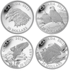 2013 EAGLE 4-COIN SET (4 X 1OZ. $20 FINE SILVER COINS)