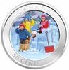 2018 50-CENT LENTICULAR COIN SNOWBALL FIGHT