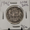 1946 CIRCULATION 50 - CENT COIN - WIDE DATE - UNGRADED - AS PICTURED