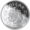 2019 BARBADOS $1 FINE SILVER COIN THE BAT SIGNAL™