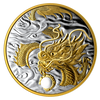 2019 1/2 Kilogram Pure Silver Gold-Plated Coin - Benevolent Dragon - Mintage: 588