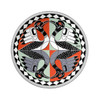 SALE -  2012 FINE SILVER COLOURIZED COIN - TWO LOONS