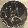 2008 CIRCULATION 25-CENT COIN - FREESTYLE SKIING - MS-65