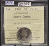 1962 CIRCULATION 5-CENT COIN -HEAVY CAMEO - PL-65