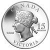SALE - 2008 $15 STERLING SILVER VIGNETTES OF ROYALTY HIGH RELIEF SERIES - QUEEN VICTORIA (1ST COIN IN SERIES)